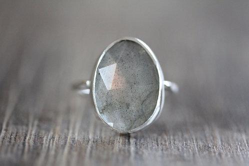 Sea Labradorite Ring