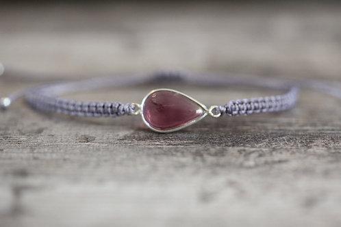 Garnet Bracelet in Lavender