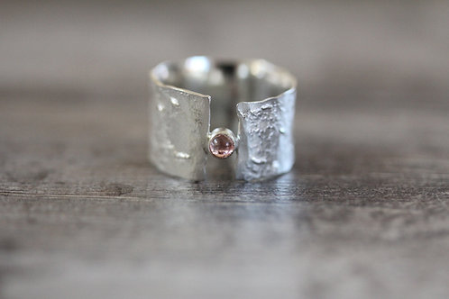 Currents Tourmaline Ring in Pale Pink