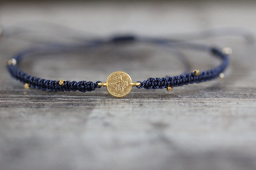 Coin Bracelet in Navy