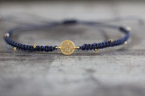 Coin Bracelet in Navy
