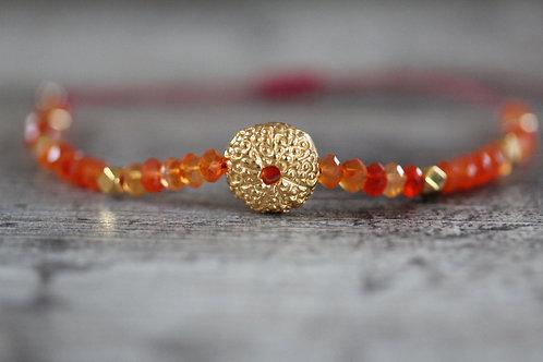 Sea Urchin Carnelian Bracelet