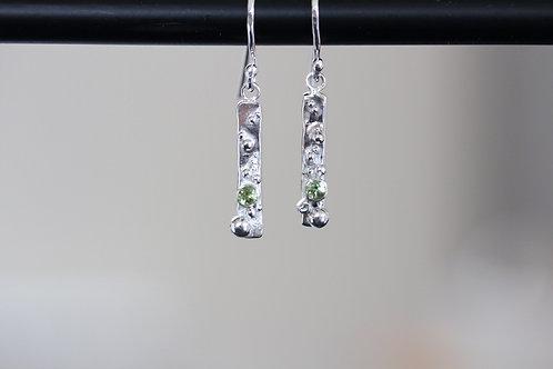 Barnacle Peridot Earrings