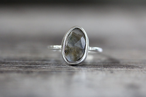 Sea Labradorite Ring in Blue
