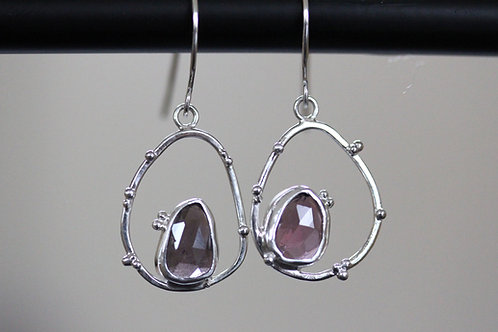 Echo Silver Earrings with spinel