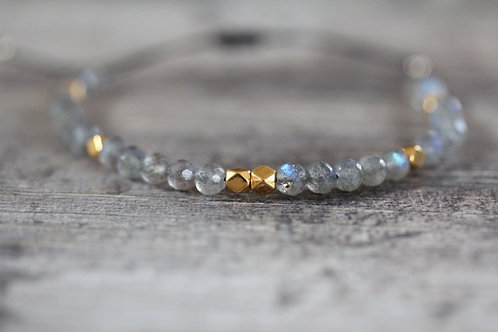 Beaded Labradorite Bracelet