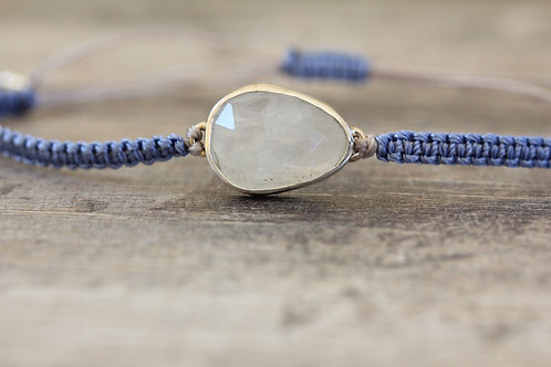 Moonstone Bracelet in Lavender and Silver