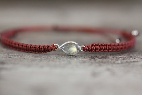 Labradorite Bracelet in Burnt Orange