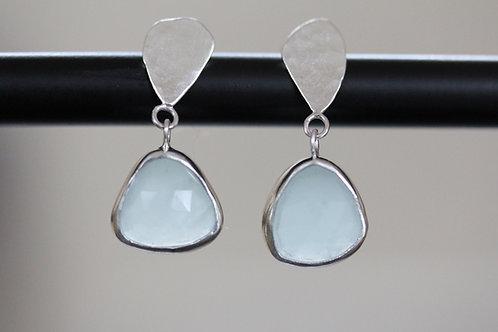 Leaf Aquamarine Earrings