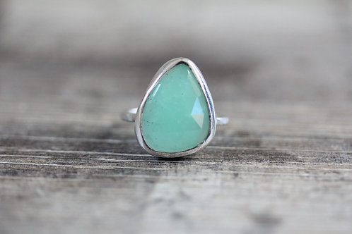Sea Chrysoprase Ring