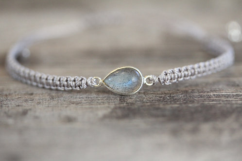 Labradorite Bracelet in Grey