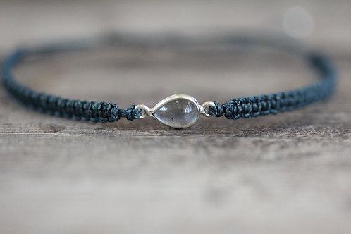 Labradorite Bracelet in Dark Teal