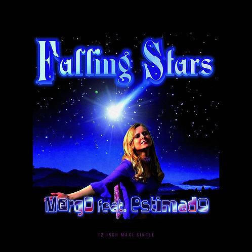 "M@rgo - Falling Stars - 12"" blue & white quad effect"