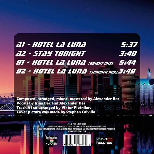 """Heaven42 - Hotel La Luna - 12"""" Clear w/ purple splattered"""