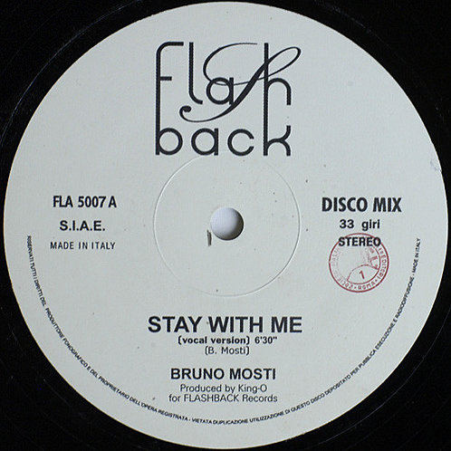 Bruno Mosti - Stay With Me (Clear vinyl repress)