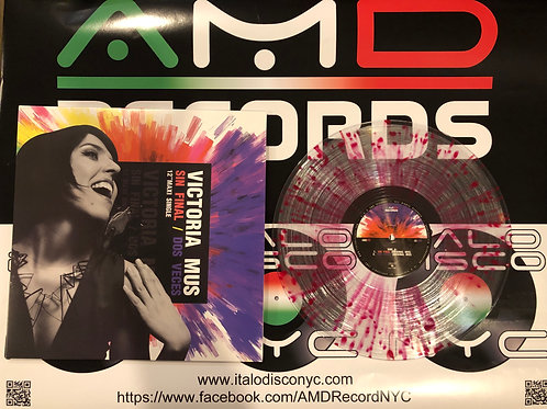"Victoria Mus - Sin Final / Dos Veces - 12"" Pink splattered vinyl"