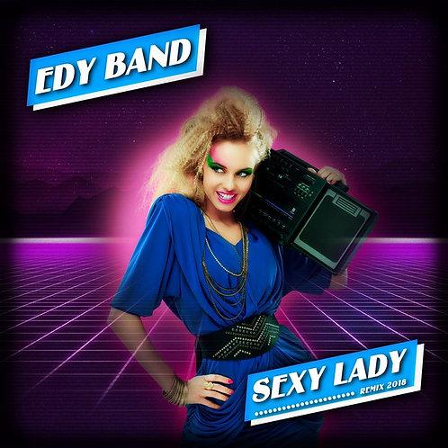 "Edy Band - Sexy Lady - 12"" Royal Blue vinyl."