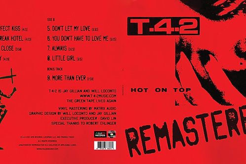 T-42 - Hot On Top : Remastered LP red vinyl