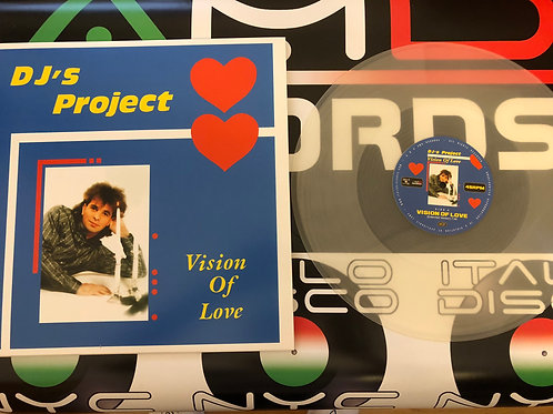 "DJ's Project - Vision Of Love - 12"" Milky Clear vinyl. 100 copies only"