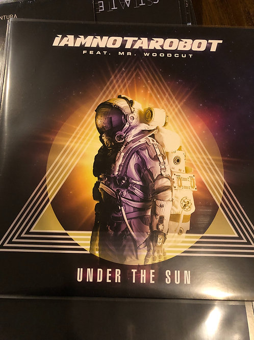 """IAMNOTAROBOT feat. Mr Woodcut - Under The Sun - 12"""" clear vinyl"""
