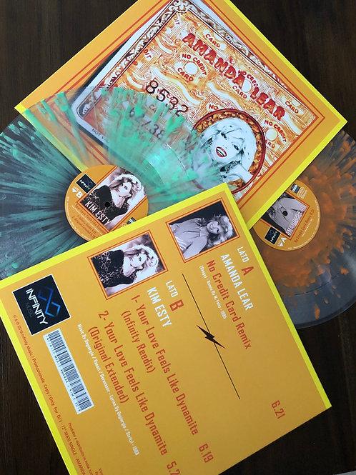 "Amanda Lear / Kim Etsy - no credit card / your love feels - 12"" Orange splattere"