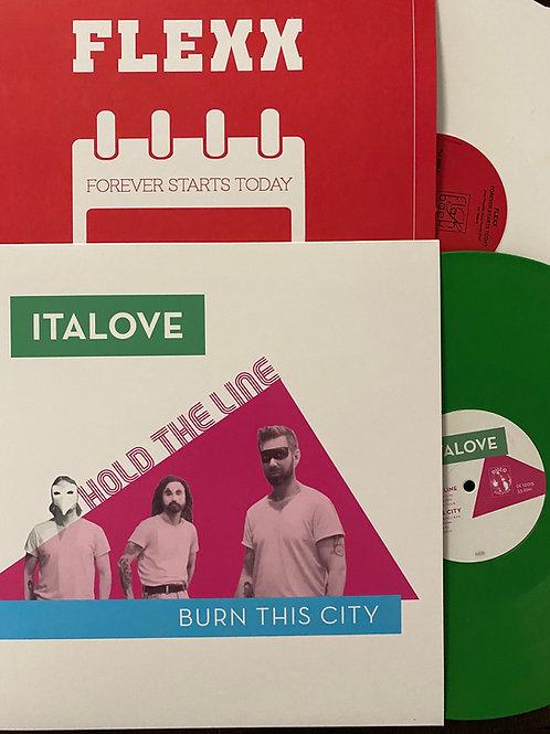 "Italove - Hold The Line - 12"" Green vinyl"