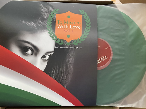 """Various - To Mexico With Love Vol 1 - 12"""" Green vinyl"""