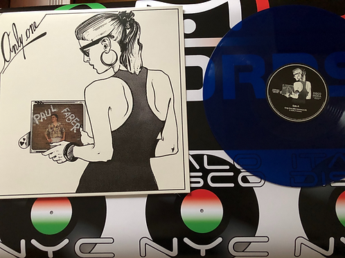 """Paul Faber - Only One - 12"""" Blue vinyl"""