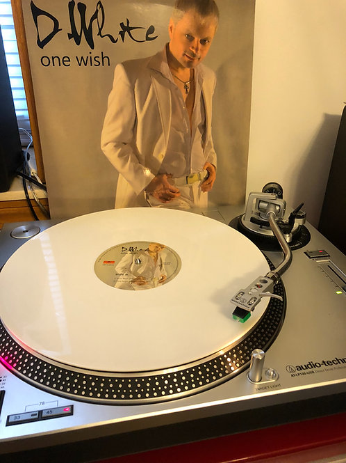 """D. White - One Wish -12"""" white vinyl. Limited edition of 100 copies"""