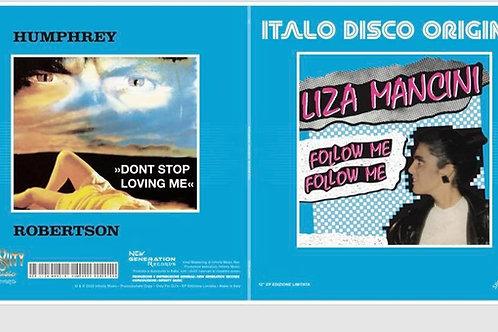 """Italo Disco Origins - 12"""" blue splattered vinyl"""