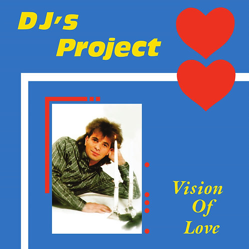 "DJ's Project - Vision Of Love - 12"" Cyan Blue vinyl - Reissued"