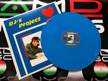 """DJ's Project - Vision Of Love - 12"""" Cyan blue vinyl. Available now for sale!"""