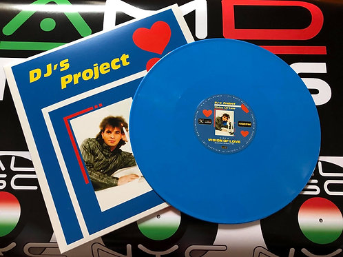 "DJ's Project - Vision Of Love - 12"" Cyan Blue vinyl"