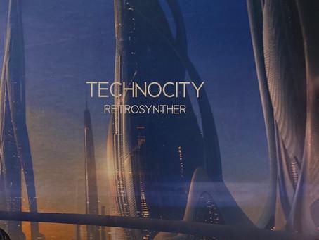 "RetroSynther - Technocity - 7"" black vinyl"