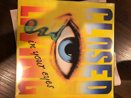 """Closed - Living In Your Eyes - 12"""" splattered vinyl"""