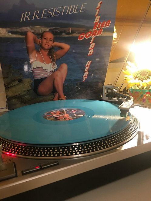 """Elen Cora - Irresistible - 12"""" blue vinyl . Limited to 100 only"""