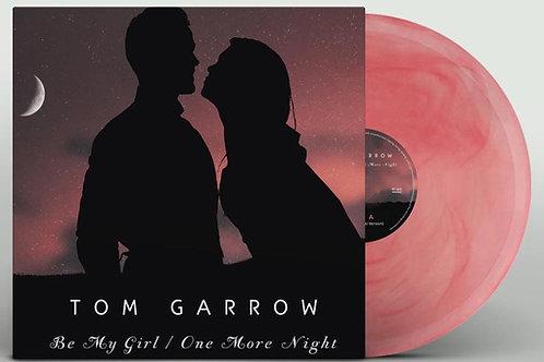 "Tom Garrow - Be My Girl/ One More Night - 12"" red rosy transparent vinyl"