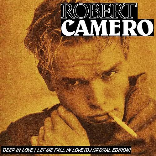 "Robert Camero - Deep In Love/Let Me Fall In Love - 12"" beer vinyl"
