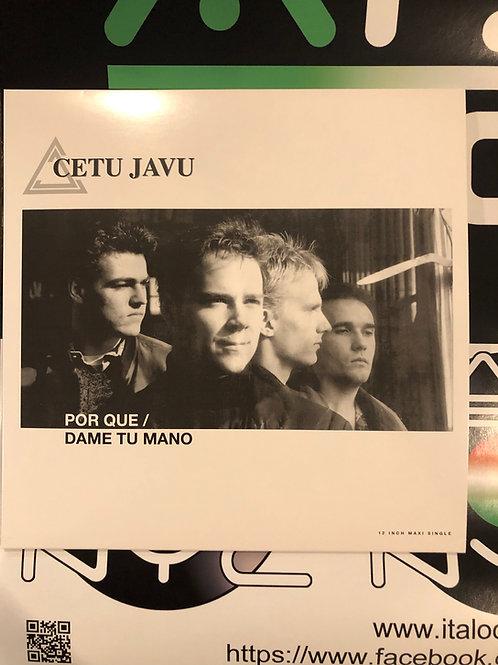 "Cetu Javu - Por Que / Dame Tu Mano - 12"" white & grey vinyl"
