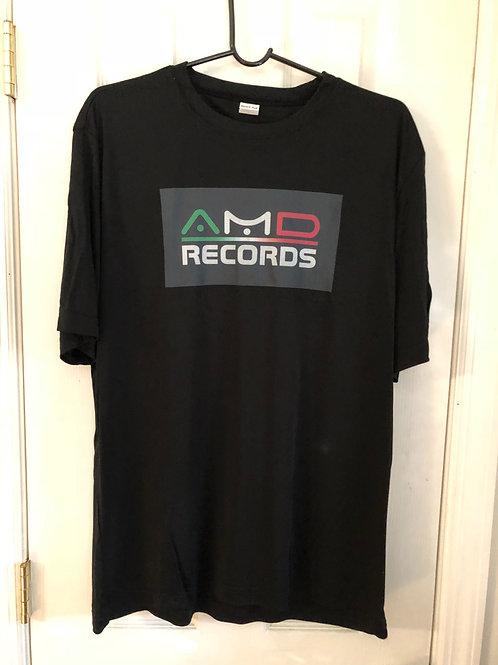 T-shirt - medium - AMD records Men's moisture wicking performance tshirt