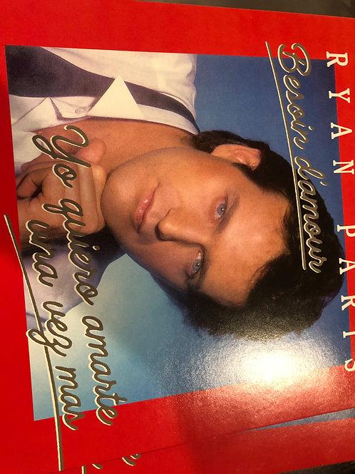 "Ryan Paris - Besoin D'amour - 12"" white vinyl"