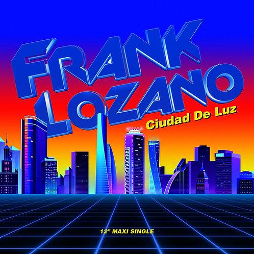 """Frank Lozano - Ciudad de Luz - 12"""" brown & blue vinyl. Limited edition of 100`"""
