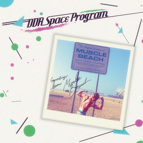 """DDR Space Program - Muscle Beach e.p. - 12"""" Aqua Blue vinyl. 100 copies only"""