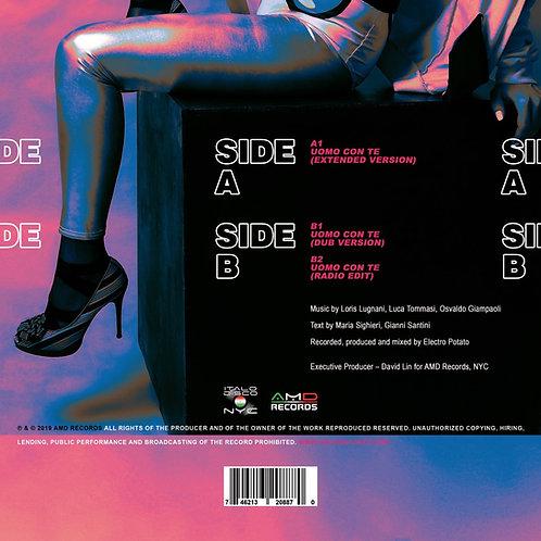 "Alex Germana - Uomo Con Te - 12"" Olive green vinyl"