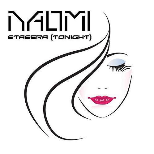 "Naomi - Stasera 12"" Electric Blue vinyl AMD 008"