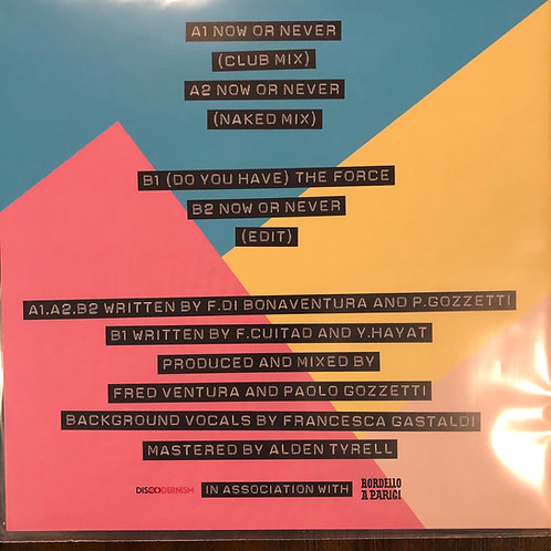 "Italoconnection  - Now Or Never - 12"" black vinyl"