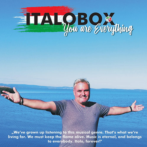 "Italobox - You Are Everything - 12"" Milky Clear vinyl . Limited edition of 100"