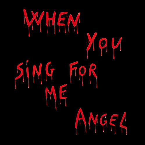 "Angel - When You Sing For Me - 12"" Red & Black . Limited edition of 100 copies"