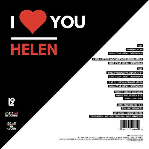 "Helen - I Love You - 12"" Red vinyl"