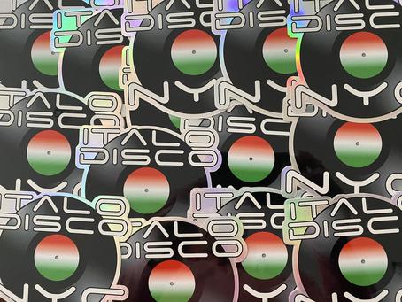 Italodisconyc logo hologram sticker